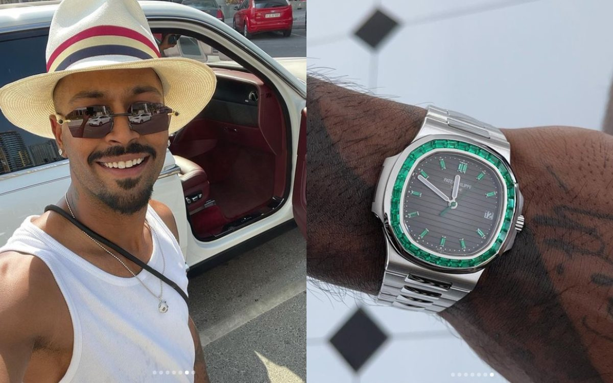 Cricket Image for Indian Allrounder Hardik Pandya Wristwatch Worth Rs 5 Crore