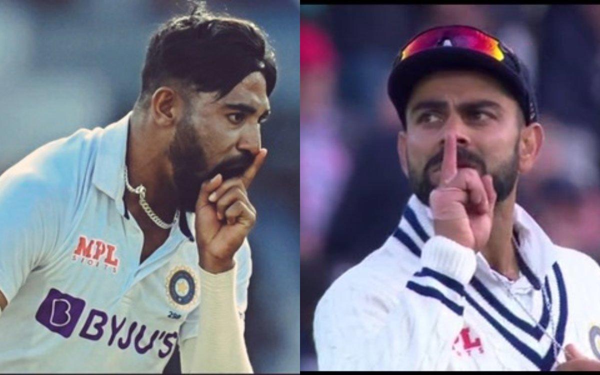 Cricket Image for 'विराट ने कॉपी किया था सिराज का 'Shut up' सेलिब्रेशन' सैम कर्रन के आउट होने के बाद