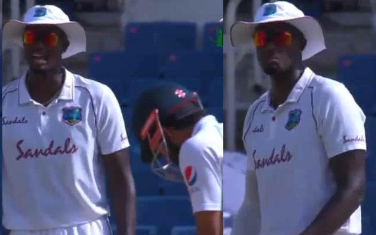 Cricket Image for VIDEO : स्लिप्स में खड़े होकर होल्डर ने की ज़बरदस्त स्लेज़िंग, रिज़वान को याद दिला