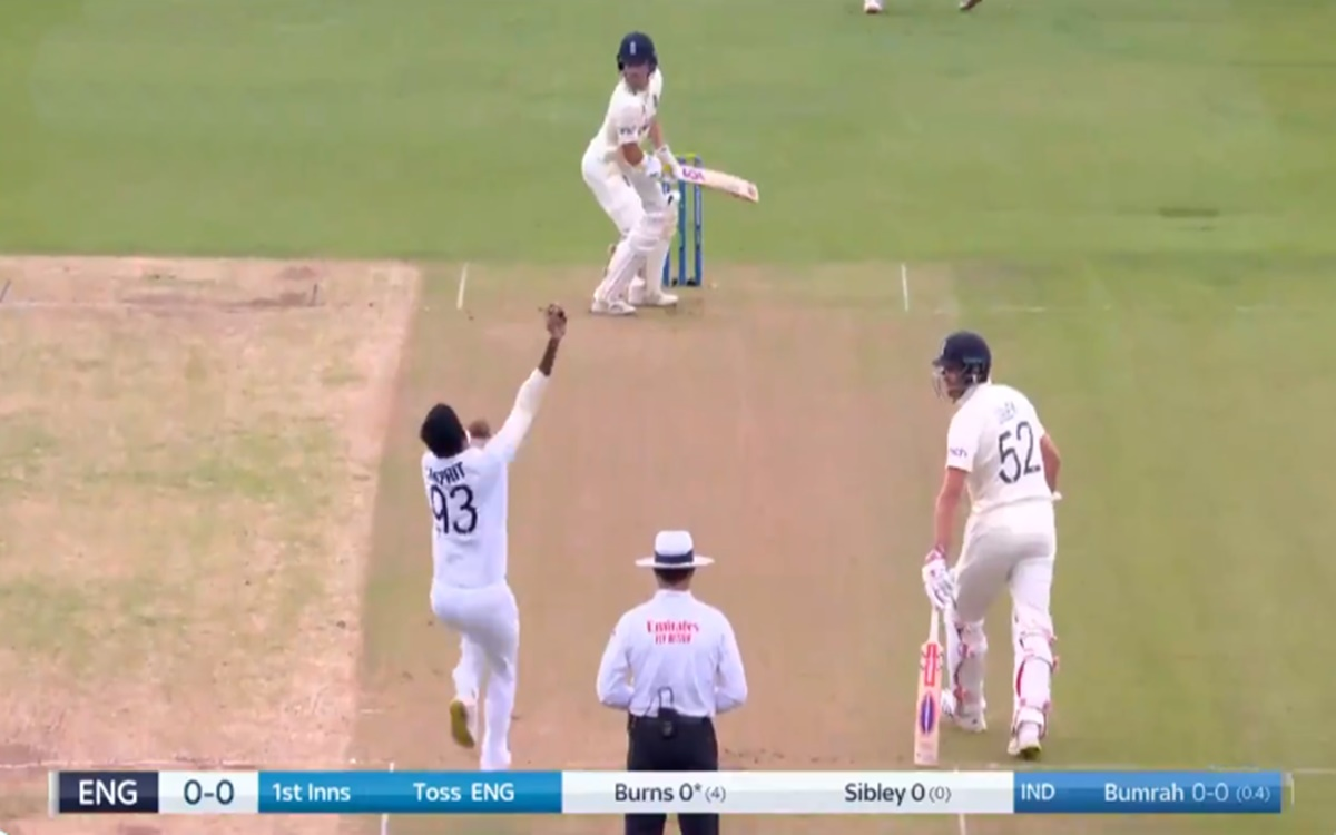 Cricket Image for Eng Vs Ind Jasprit Bumrah Dismiss Rory Burns Watch Video