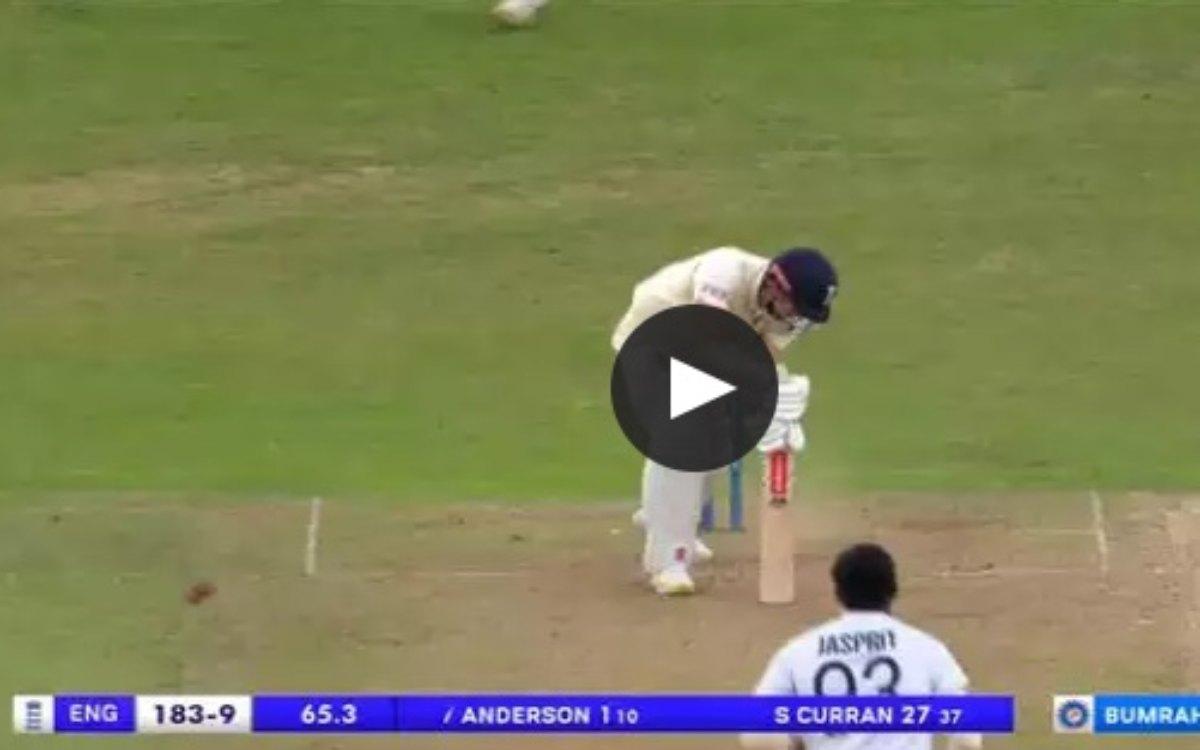 Cricket Image for VIDEO : हिल भी नहीं पाए 39 साल के एंडरसन, बुमराह की तेज़तर्रार यॉर्कर पर हुए चारों