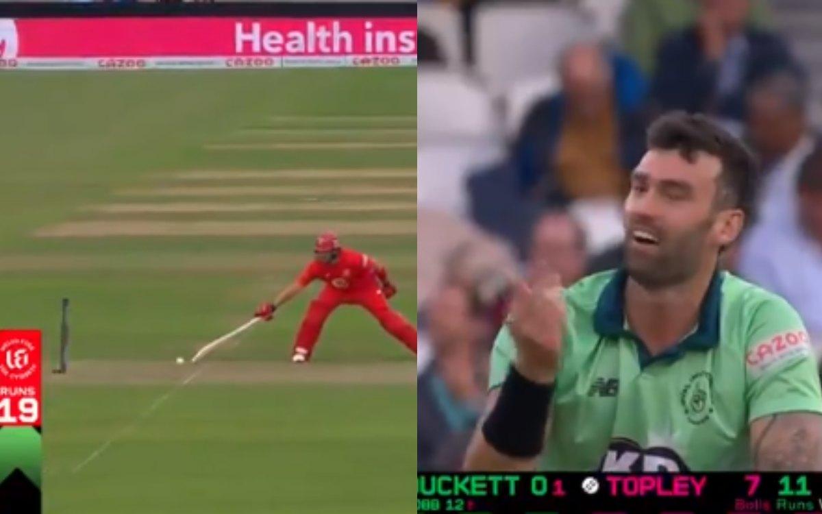 Cricket Image for VIDEO : 'नज़र हटी और दुर्घटना घटी', खराब किस्मत के चलते आउट हुआ बल्लेबाज़