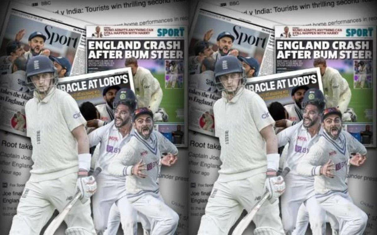 Cricket Image for इंडिया छोड़ो, इंग्लिश अखबारों में भी छाई भारतीय टीम, फ्रंटपेज पर बज रहा है जीत का
