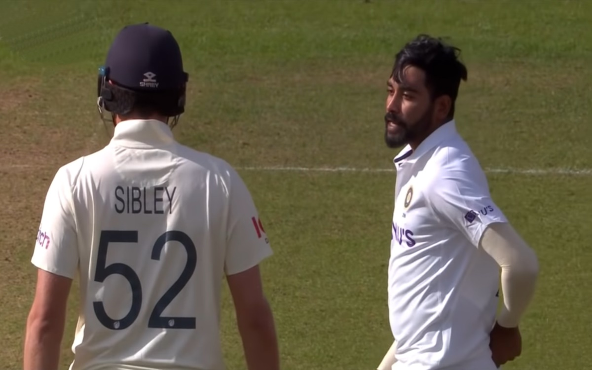 Cricket Image for England V India Mohammed Siraj Sledges Dominic Sibley Watch Video