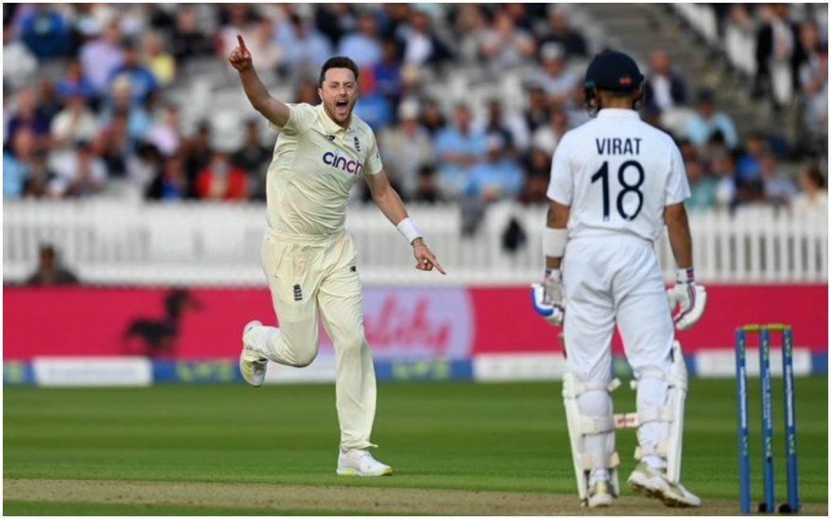 Cricket Image for VIDEO : 'दिन खत्म होते-होते बड़ा ज़ख्म दे गए रॉबिंसन', विराट के 71वें शतक का इंतज़