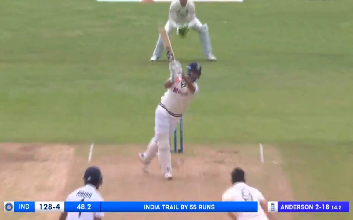 Cricket Image for India Vs England Rishabh Pant Hits A Brilliant Four Off James Anderson Ball Watch