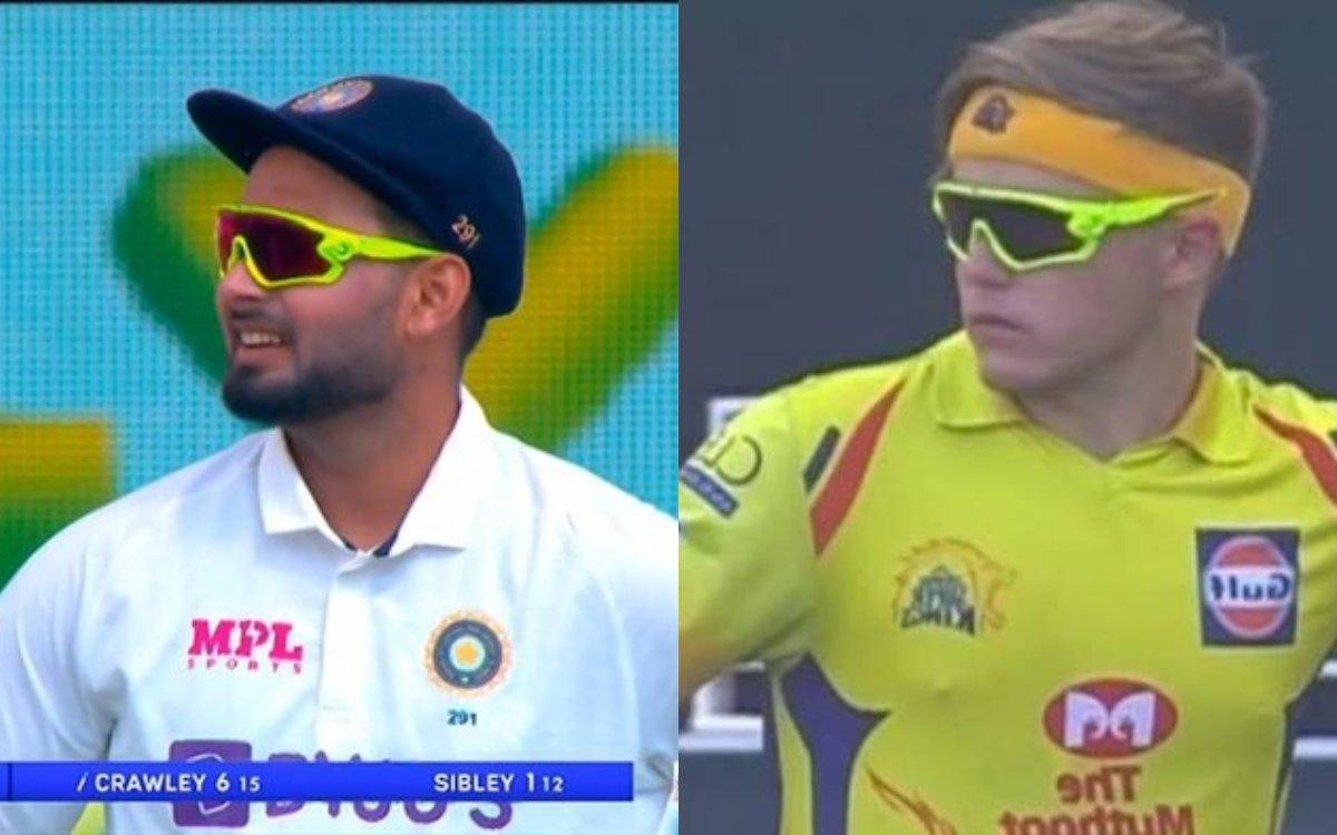 Cricket Image for पंत का चश्मा देखकर आई सैम कर्रन की याद, फैंस ने की मीम्स की बरसात