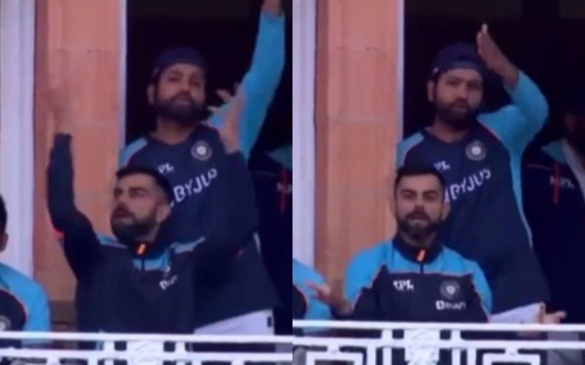 Cricket Image for VIDEO : आखिर क्यों अपने ही प्लेयर्स पर भड़क उठे रोहित और विराट, जानिए स्टंप्स से प