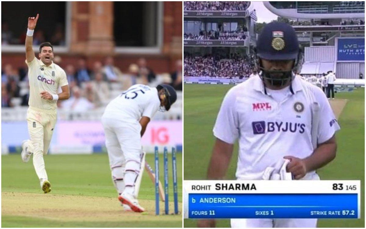 Cricket Image for VIDEO : एंडरसन के मायाजाल में फंसे रोहित, 83 रन बनाने के बाद हुए क्लीन बोल्ड