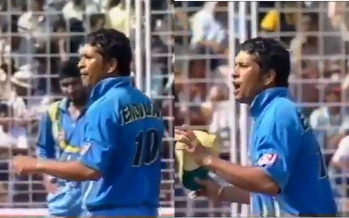 Cricket Image for VIDEO : 'कौन कहता है कि सचिन ने कभी स्लेज़िंग नहीं की', ये वीडियो देखिए खुद हो जाए