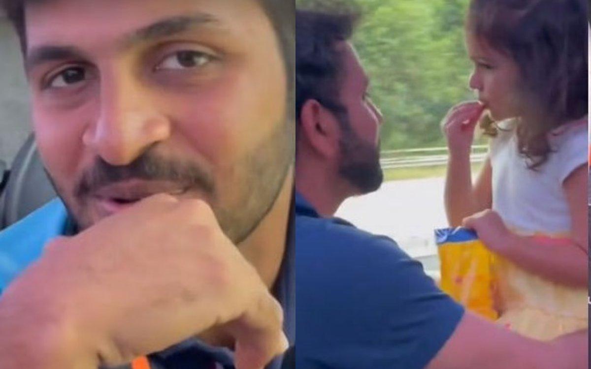 Cricket Image for VIDEO: टीम बस में शार्दुल का गाना सुना क्या ? वीडियो में समायरा भी कर रही हैं एंजॉ