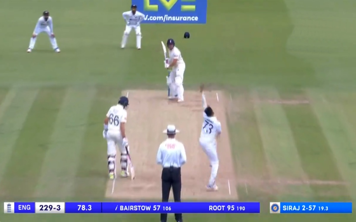Cricket Image for Mohammed Siraj Short Ball Strategy To Dismiss Jonny Bairstow Watch Video