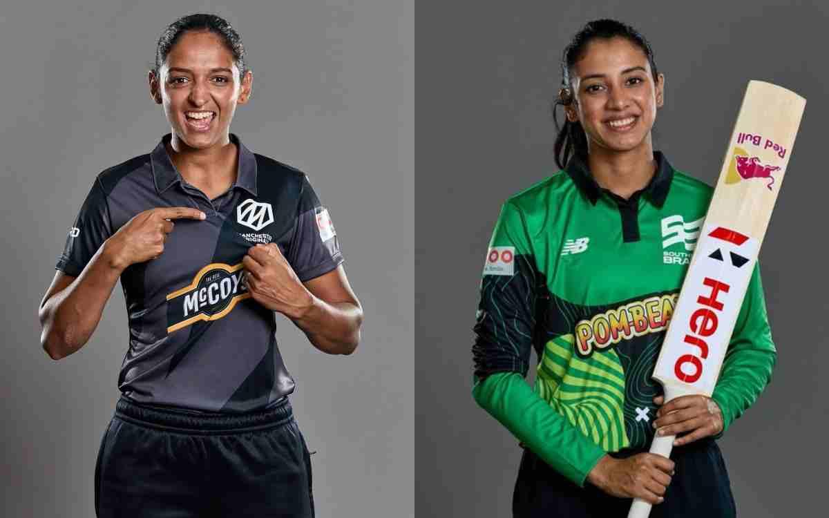 Cricket Image for  द हंड्रेड टूर्नामेंट से हटकर भारत लौटेंगी मंधाना और हरमनप्रीत, जानें वजह