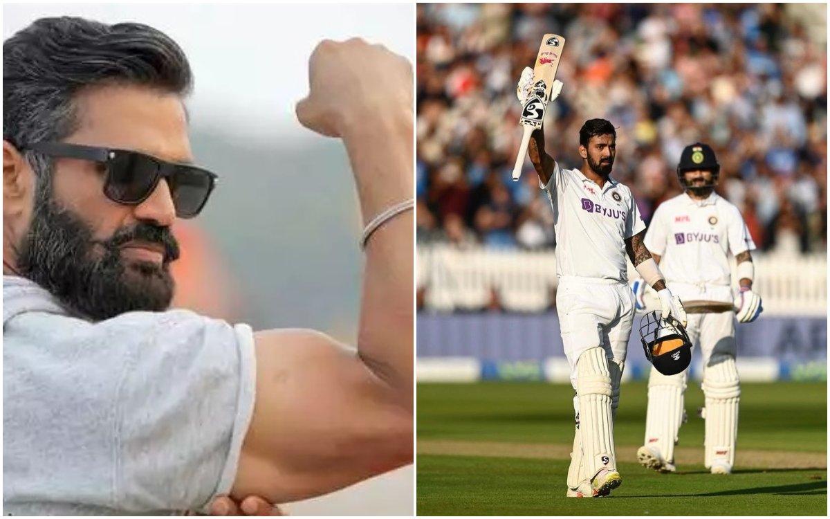 Cricket Image for VIDEO : राहुल की सेंचुरी पर सुनील शेट्टी ने दिया रिएक्शन; फैंस बोले- 'तो क्या रिश्