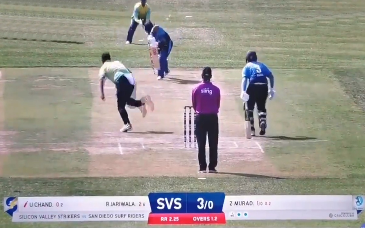 Cricket Image for Minor League Cricket Unmukt Chand Out For A Three Ball Duck Watch Video