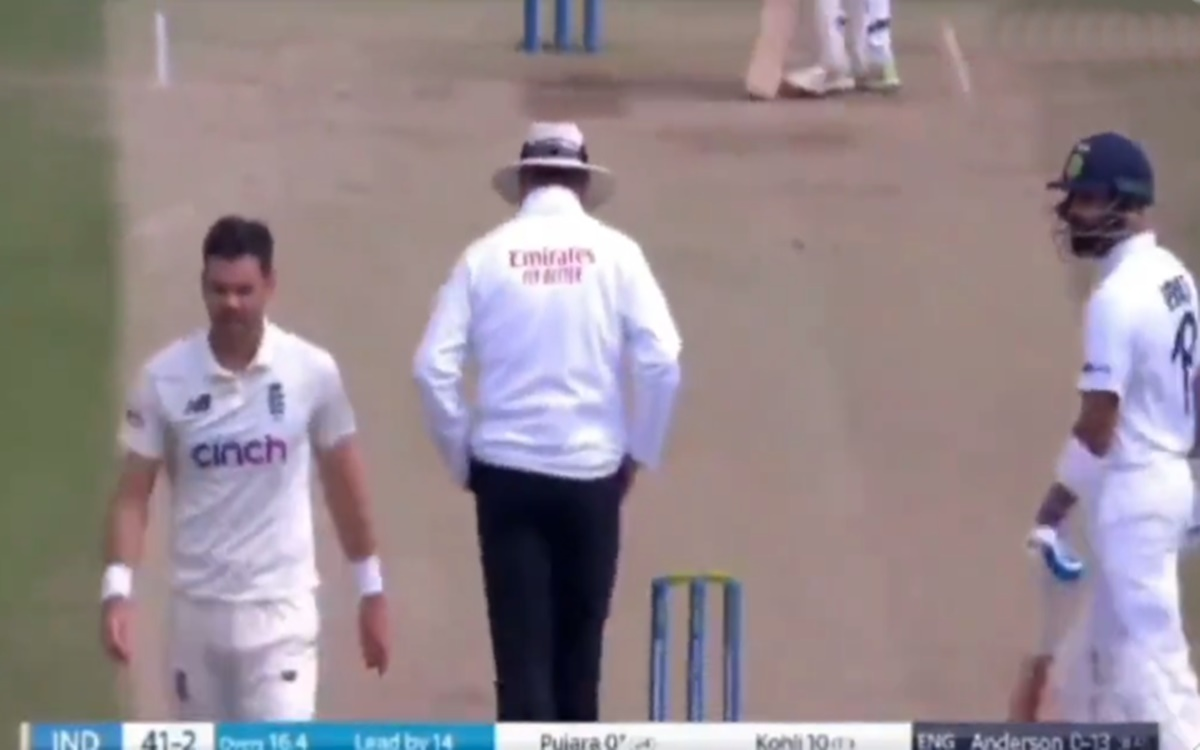 Cricket Image for Eng Vs Ind Virat Kohli Verbal Spat With James Anderson Watch Video
