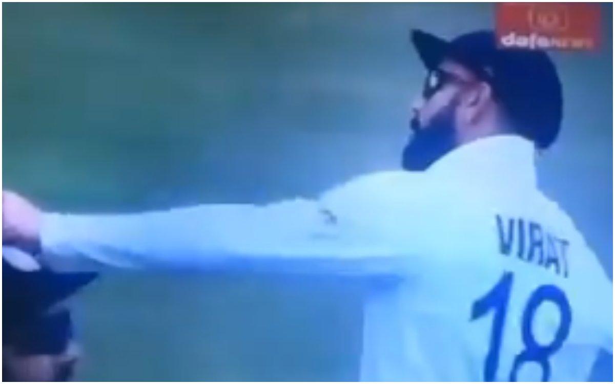 Cricket Image for VIDEO : 'कप्तान हो तो विराट जैसा', राहुल के साथ बदतमीजी के बाद कोहली का वीडियो वाय