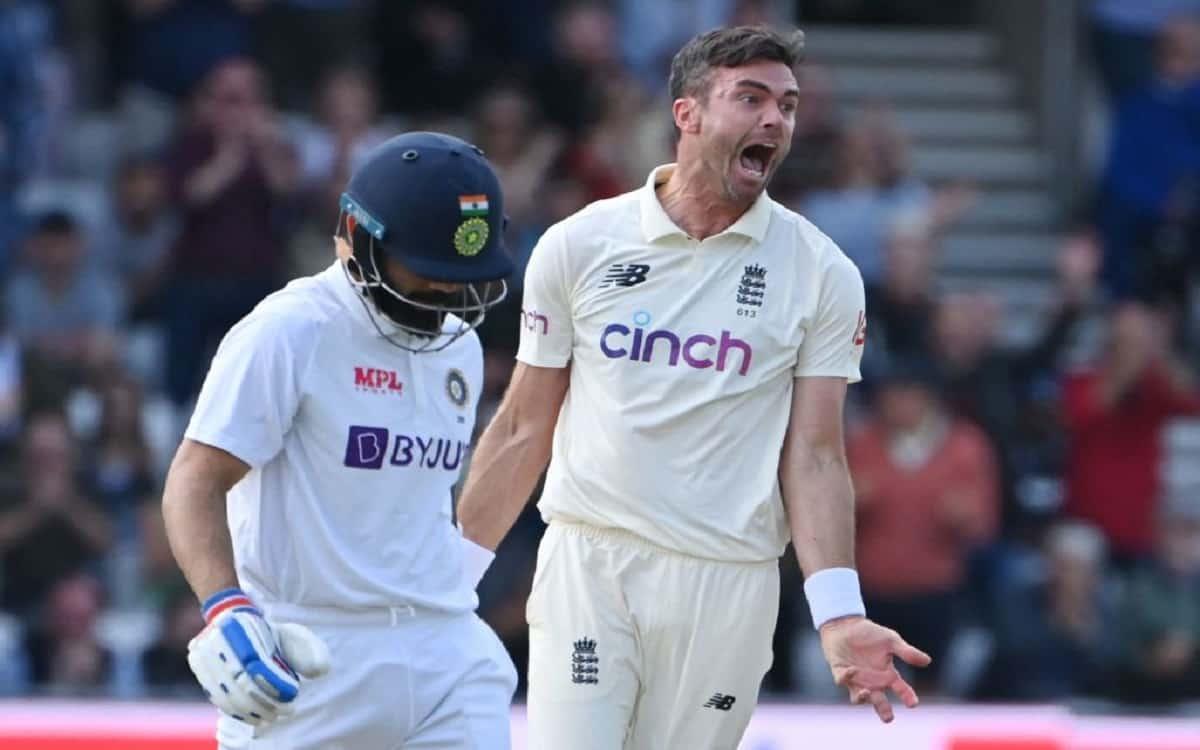 Cricket Image for ENG vs IND: एंडरसन का शिकार बने कप्तान कोहली से पवेलियन लौटते हुए बार्मी आर्मा ने