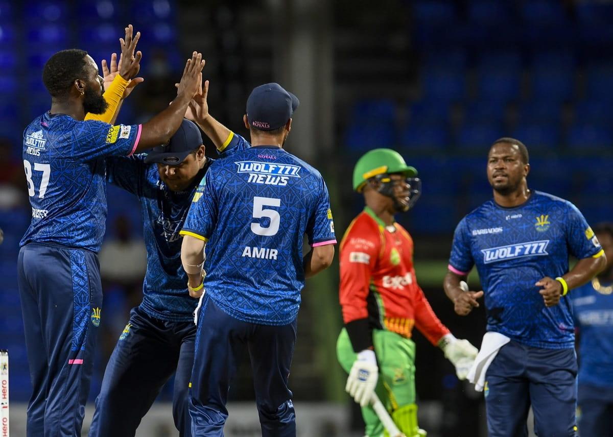 CPL 2021 Barbados Royals beat Guyana Amazon Warriors by 45 runs