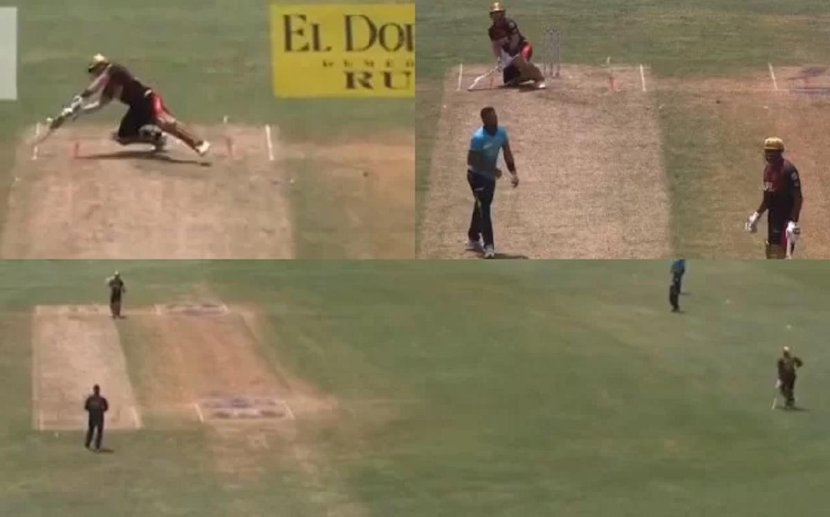 VIDEO: CPL 2021 Frustrated Kieron Pollard walks away after umpire denies giving wide