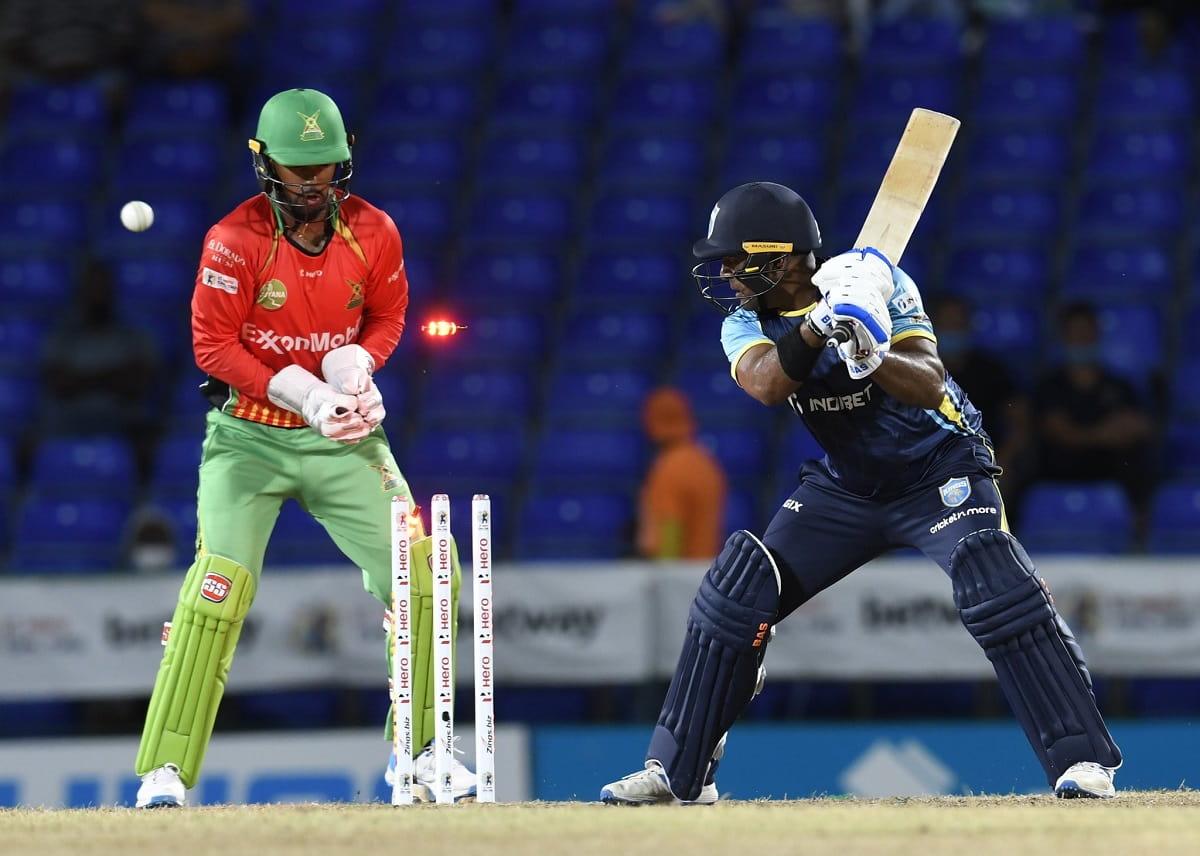 CPL 2021 Guyana Amazon Warriors beat Saint Lucia kings by 17 runs