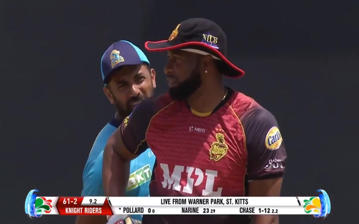 Cricket Image for Cpl 2021 Wahab Riaz Provokes Kieron Pollard