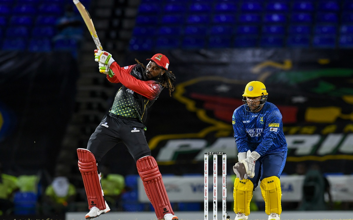Chris Gayle In CPL Images