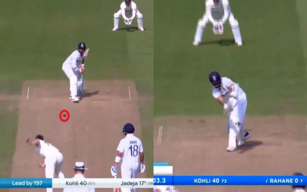 Cricket Image for Chris Woakes Dismisses Ravindra Jadeja And Ajinkya Rahane