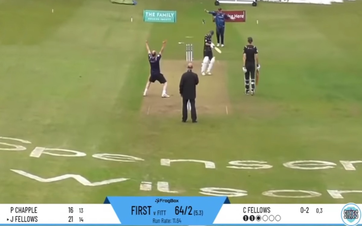Cricket Image for During Charity Match Dad Outsmarted His Son Watch Video