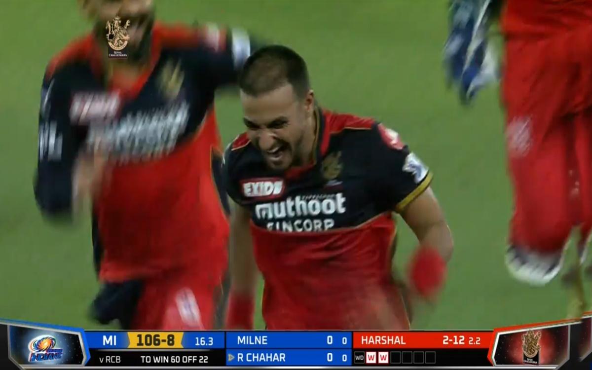 Cricket Image for Ipl 2021 Rcb Vs Mi Harshal Patel Take Heroics Hat Trick Watch Video