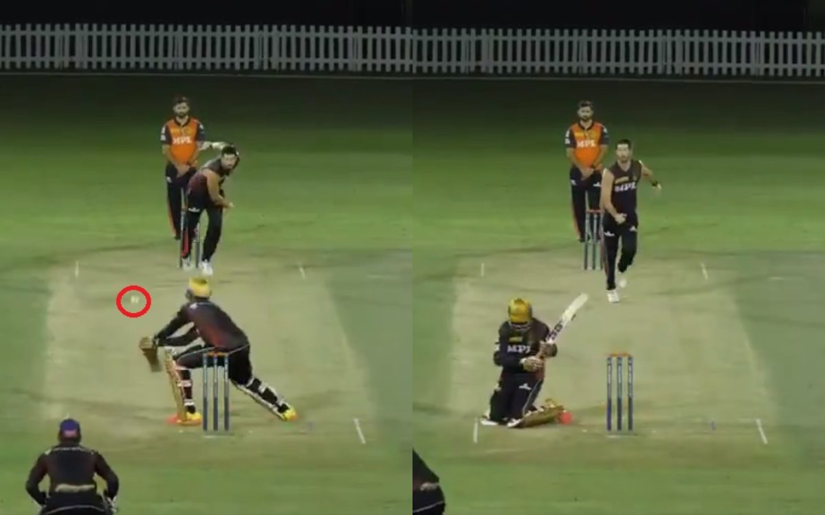 Cricket Image for Ipl 2021 During Kkr Practice Session Venkatesh Iyer Plays Unique Switch Hit Watch
