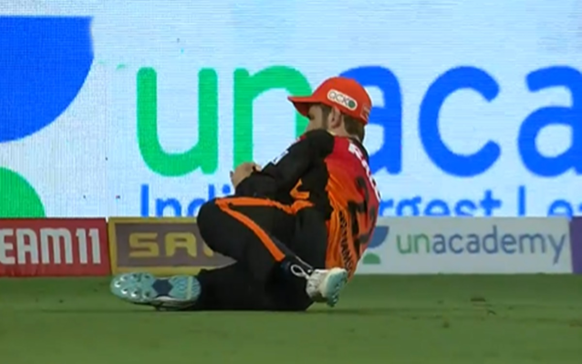 Cricket Image for Ipl 2021 Kane Williamson Takes A Stunner Watch Video