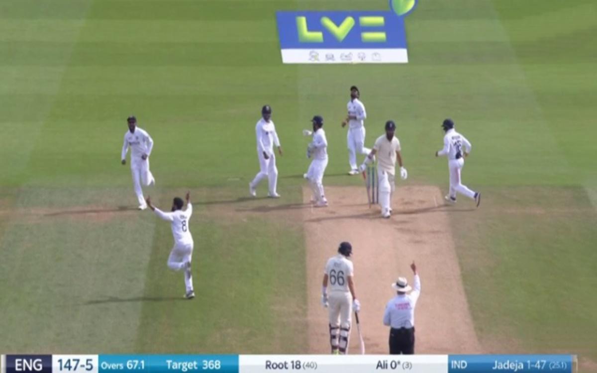 Cricket Image for India Vs England Moeen Ali Gone For Duck On Ravindra Jadeja Bowling