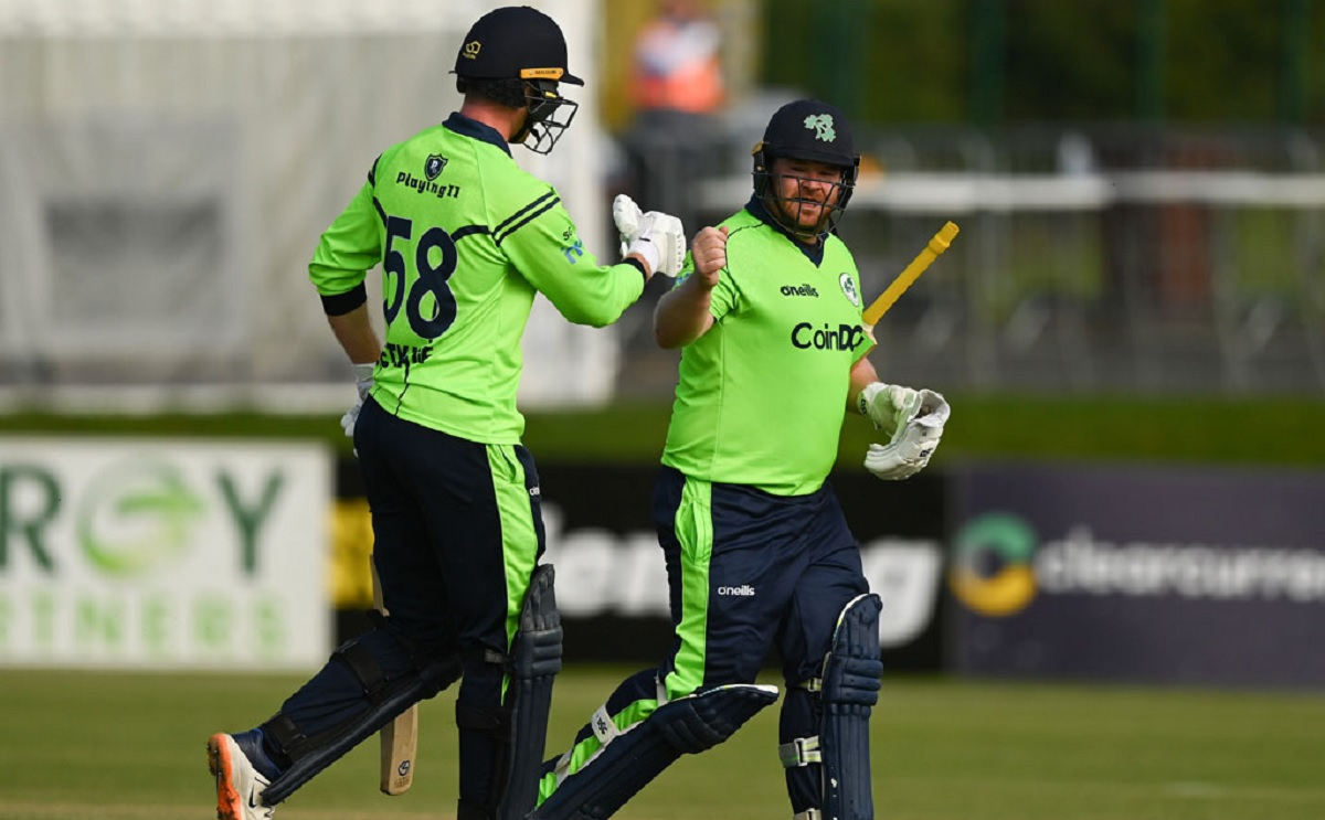 Paul Stirling's first T20I century set Ireland on their way to a 2-1 series lead