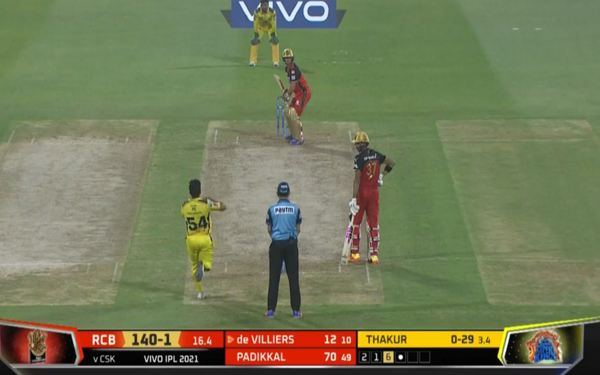 Cricket Image for Rcb Vs Csk Ab De Villiers Wicket Against Shardul Thakur Bowling Watch Video