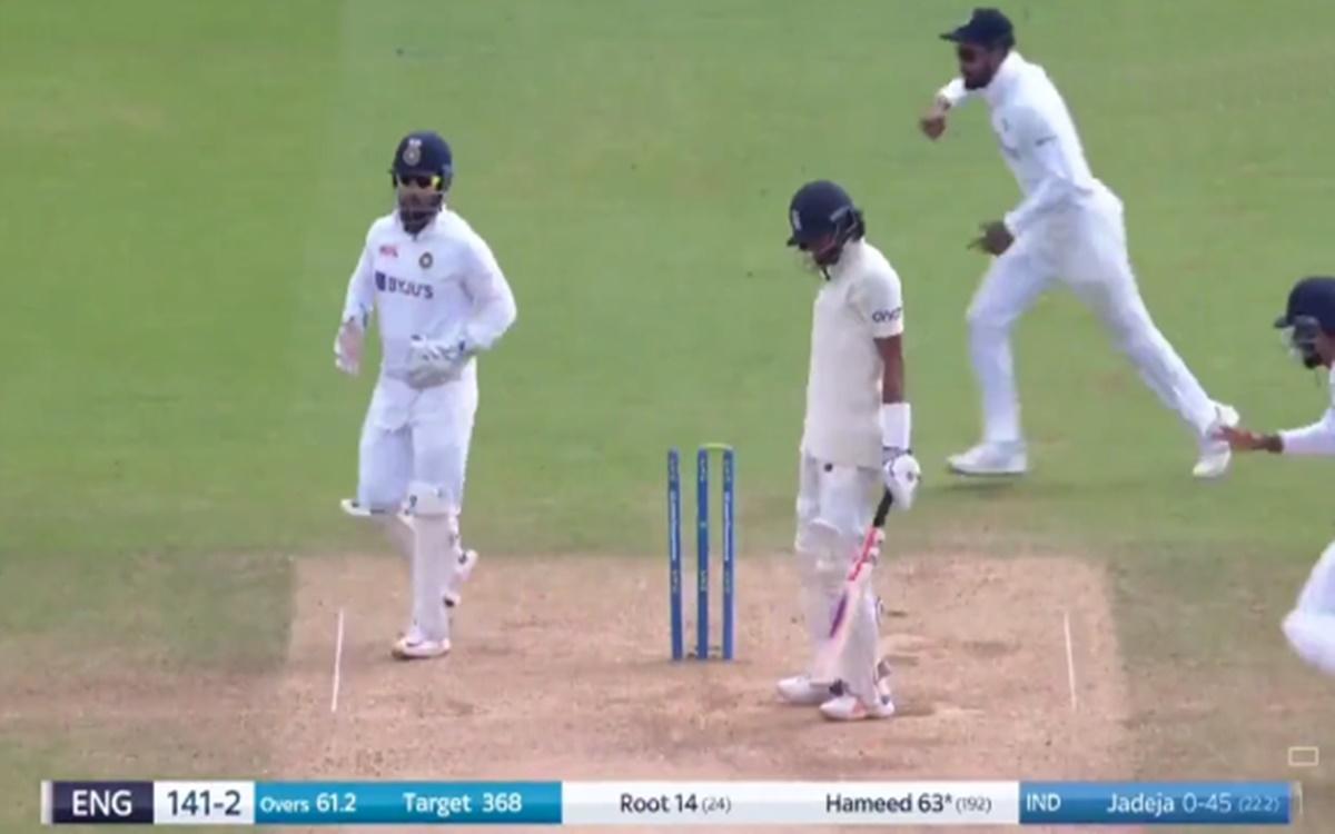 Cricket Image for India Vs England Ravindra Jadeja Clean Bowled Haseeb Hameed Watch Video