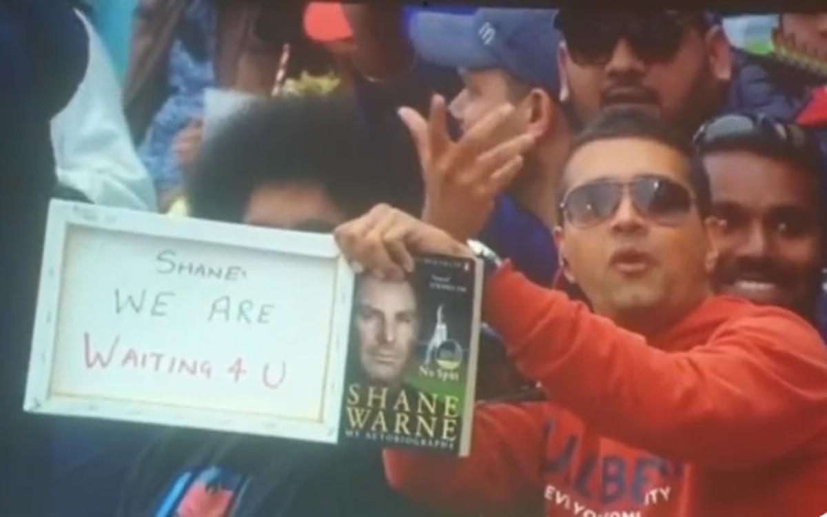Cricket Image for Shane Warne Beautiful Gesture Towards His Fan Watch Video