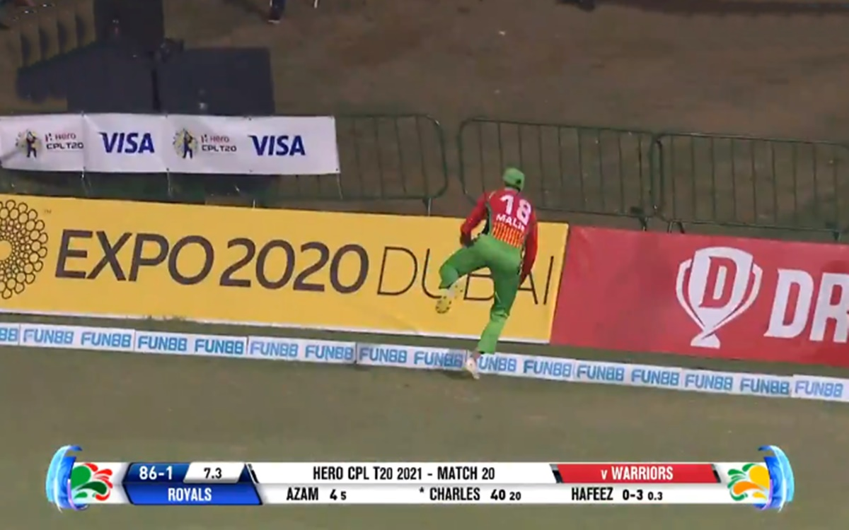 Cricket Image for Shoaib Malik Took A Brilliant Catch Off Mohammad Hafeez Bowling