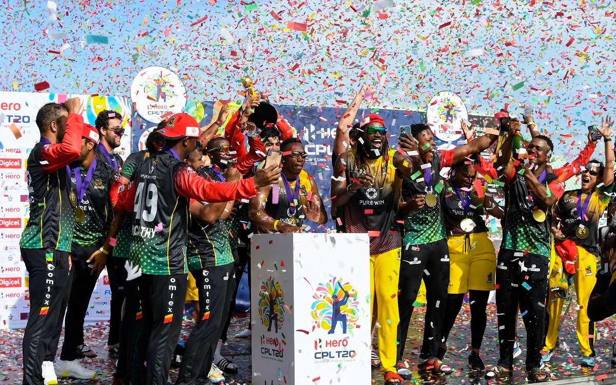 St Kitts And Nevis Patriots In CPL Images