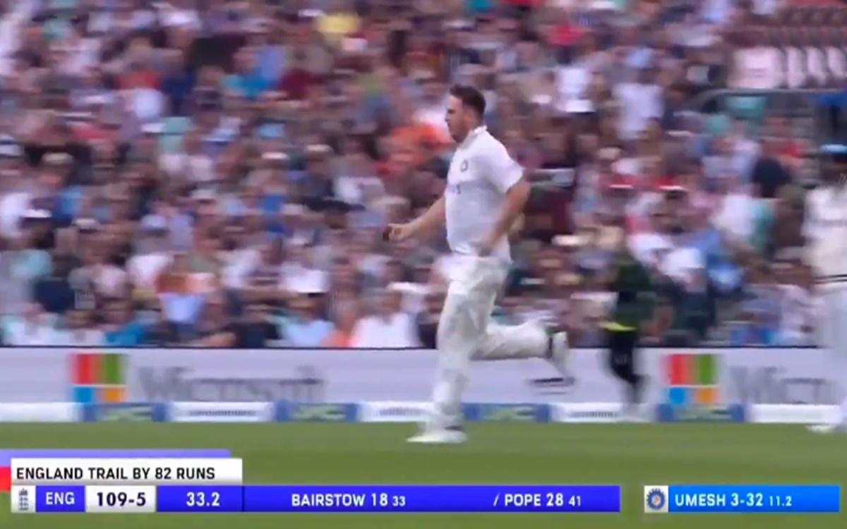 Cricket Image for Virender Sehwag Reaction After Jarvo Is Back Again