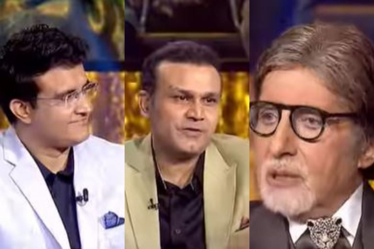 Watch - Sehwag and Sourav Ganguly have fun with Amitabh Bachchan on KBC set