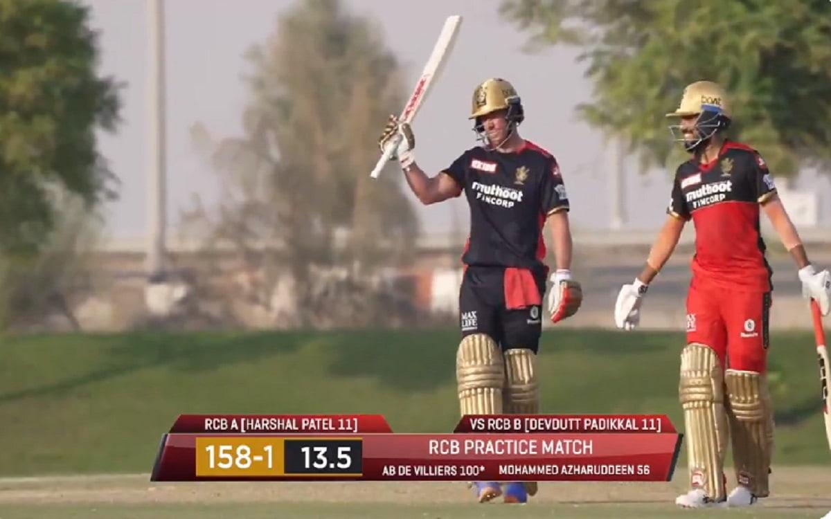 Watch Ab De Villiers sensational Knock in the RCB practice match
