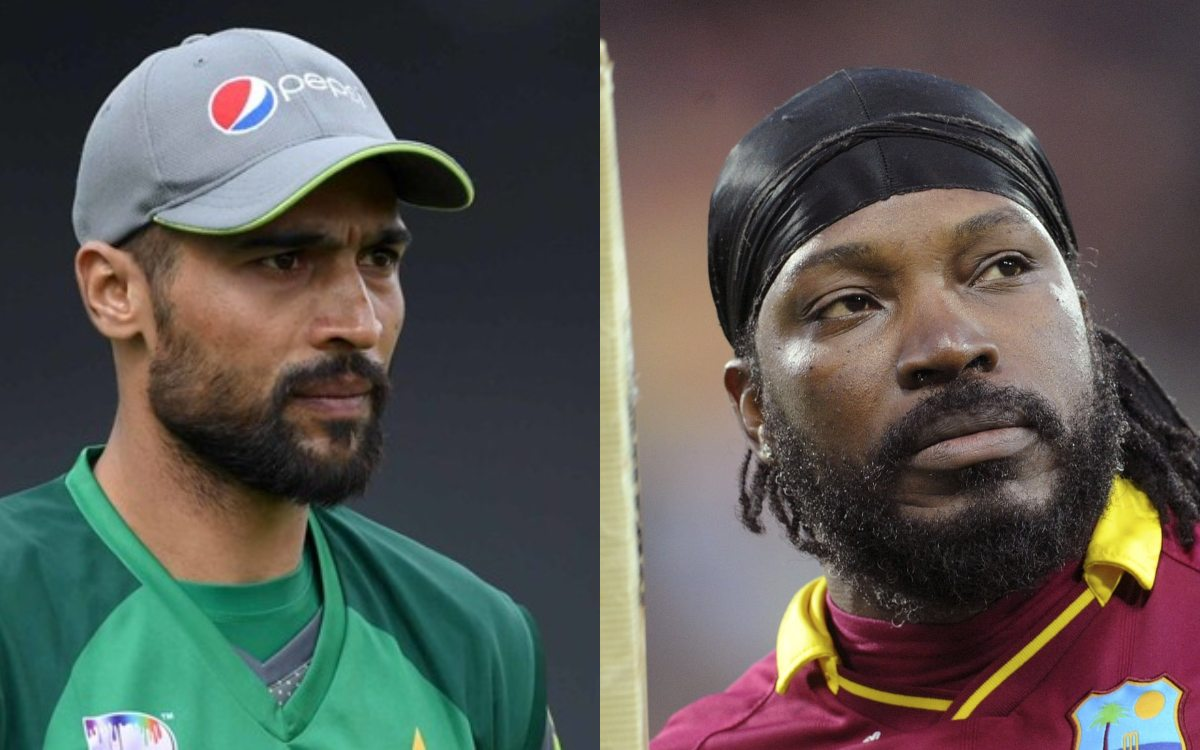 Cricket Image for West Indies Cricketer Chris Gayle Going To Pakistan Tomorrow Mohammad Amir Replies