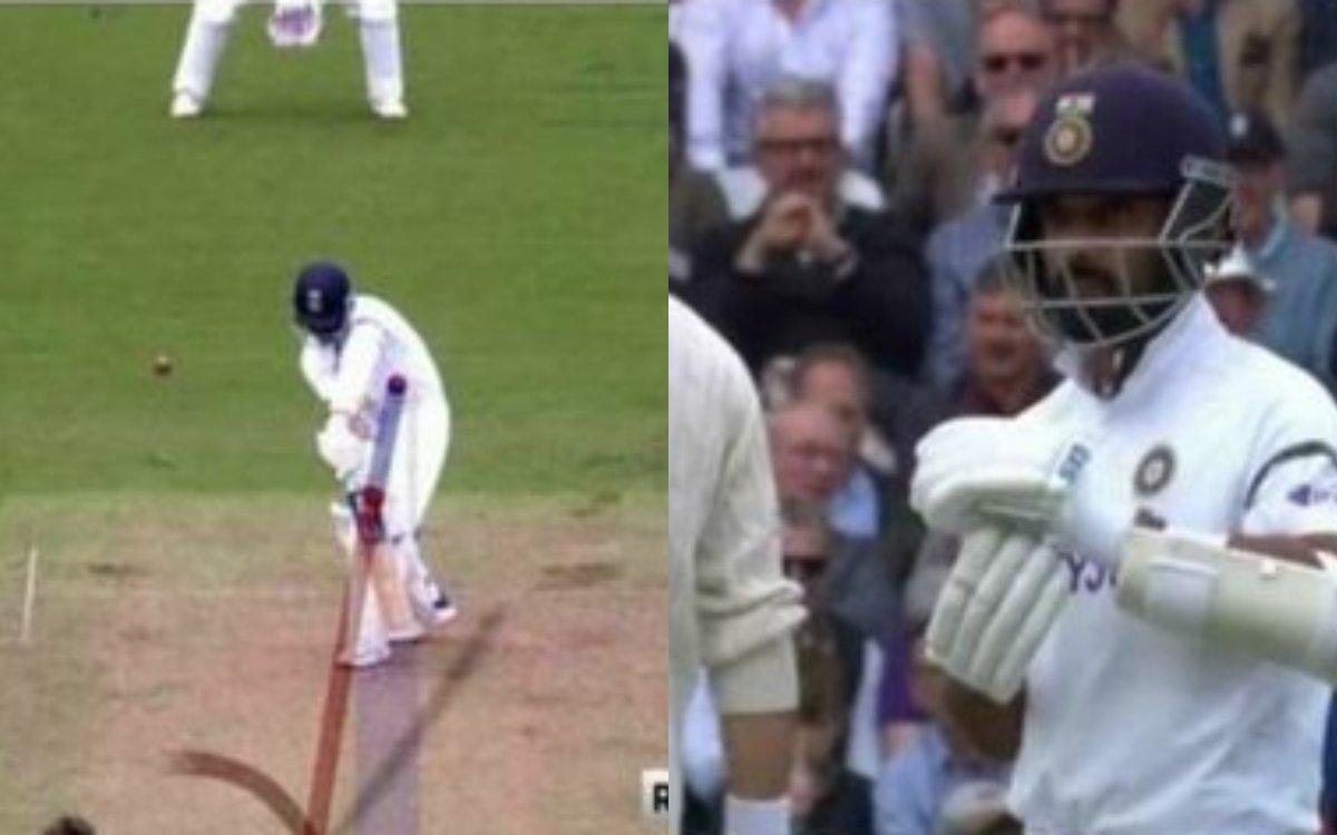 Cricket Image for VIDEO : आउट हो गए थे अजिंक्य रहाणे, लेकिन विराट की सूझबूझ ने दिया इंग्लैंड को झटका