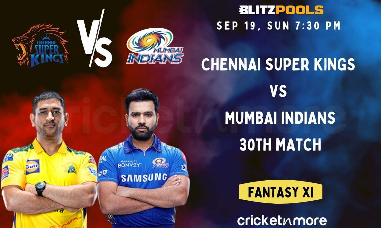 Cricket Image for Chennai Super Kings vs Mumbai Indians, 30th IPL Match – Blitzpools Cricket Match P