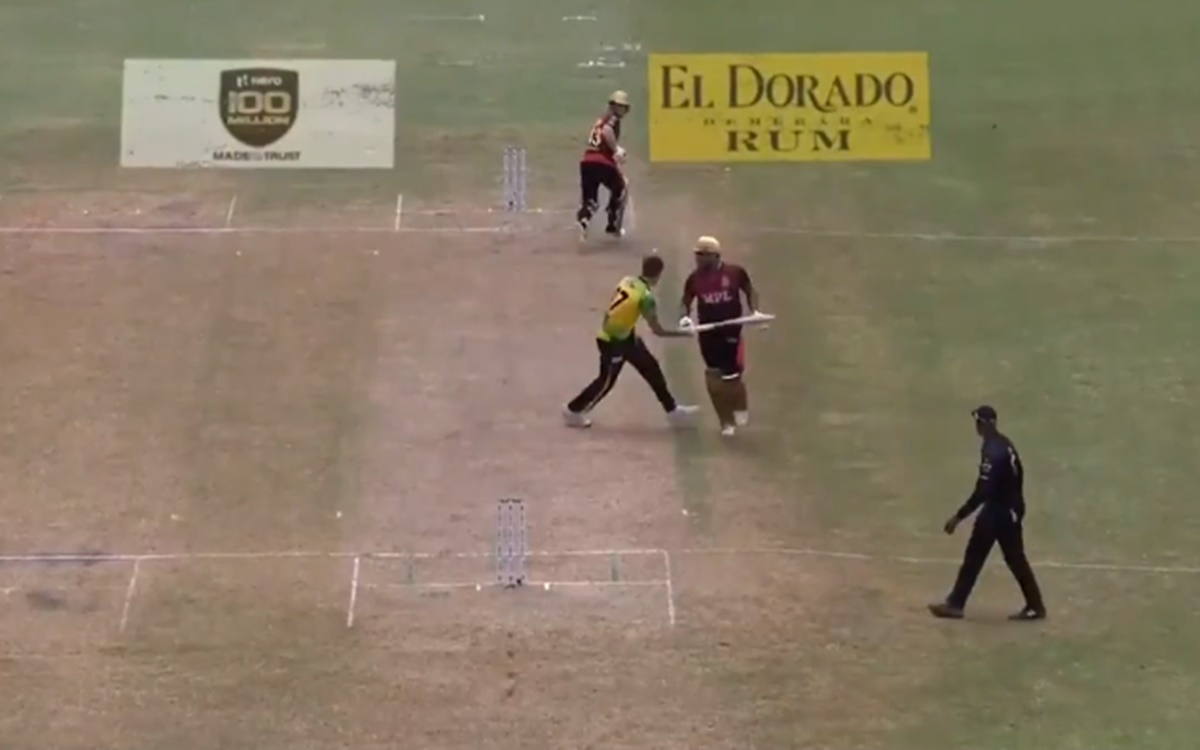 Cricket Image for  Comical Fielding Display In Cpl 2021 Watch Video