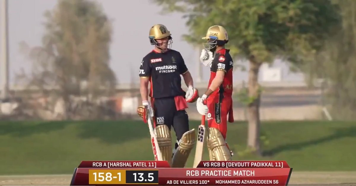 Cricket Image for VIDEO: De Villiers Smashes Ton In RCB's Intra Squad Match Ahead Of IPL 2021