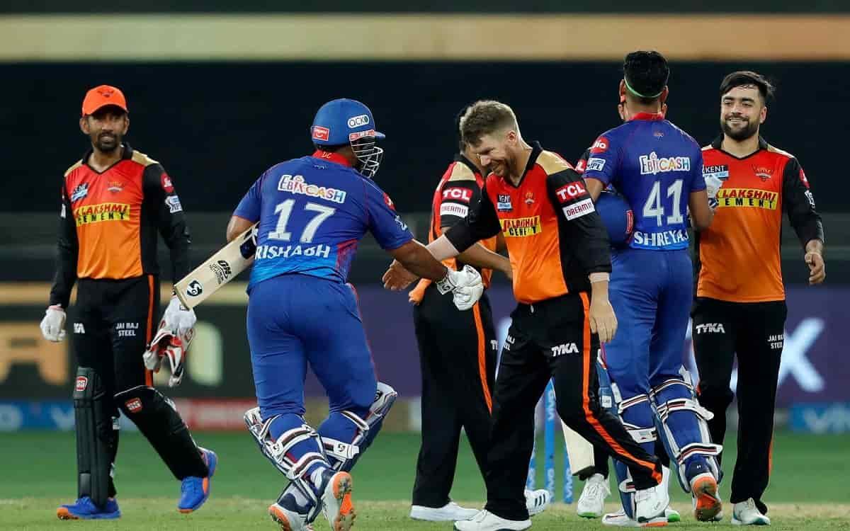 Cricket Image for IPL 2021: सनराइजर्स हैदराबाद को 8 विकेट से रौंदाकर दिल्ली कैपिटल्स पॉइंट्स टेबल मे