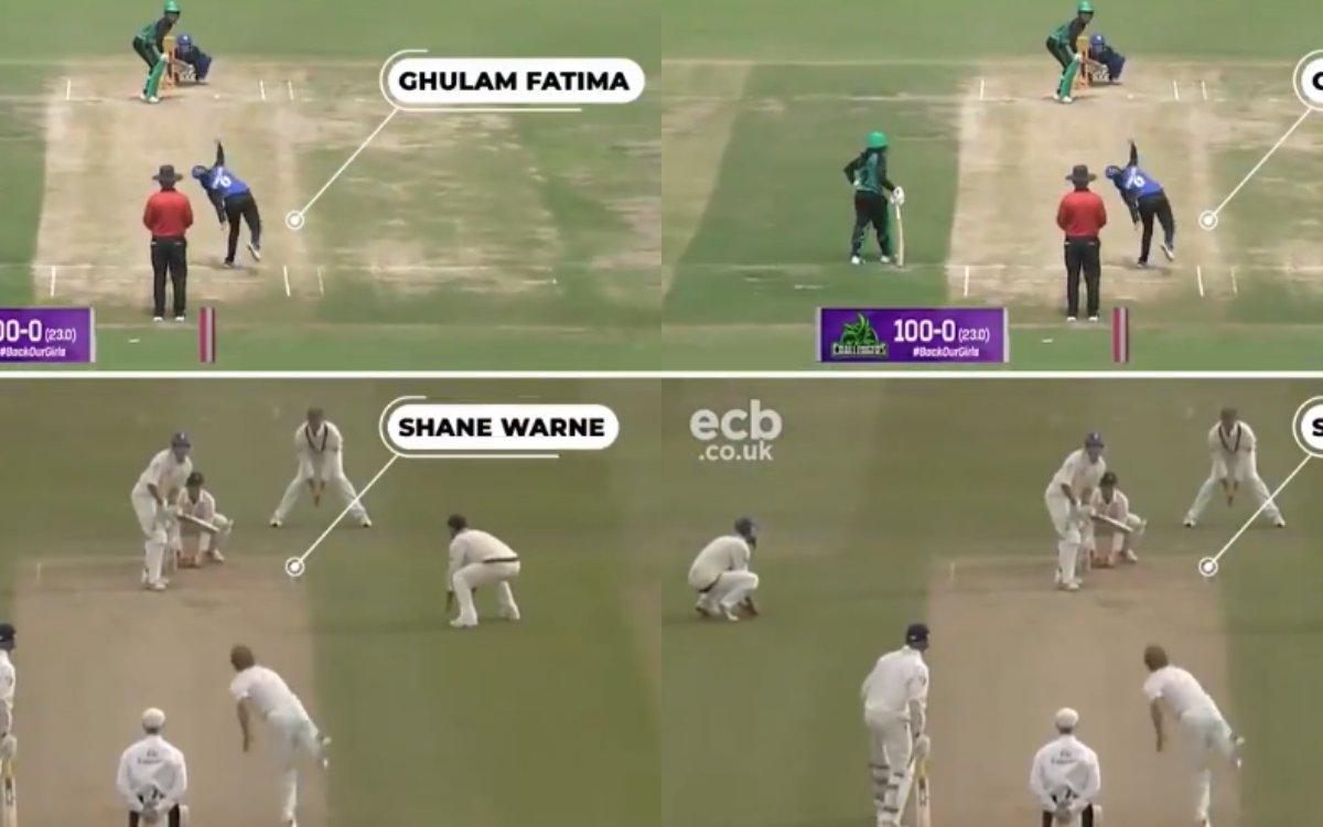 Cricket Image for VIDEO : पाकिस्तानी लड़की ने कुछ ऐसा घुमाई गेंद, फैंस को आ गई शेन वॉर्न की याद