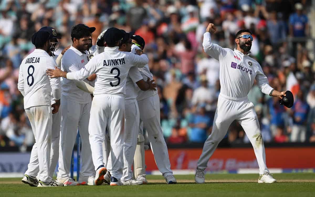 Cricket Image for ENG vs IND: 50 साल बाद ओवल में जीती टीम इंडिया, इंग्लैंड को 157 रनों से रौंदा